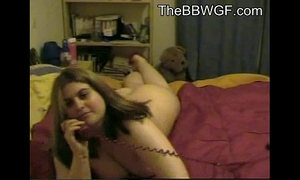 Horny overweight bbw ex gf having phone sex with her bf