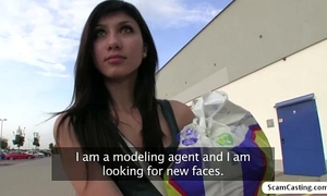 Brunette mona drilled after shopping