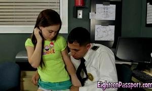 Tight legal age teenager seduces lustful stud