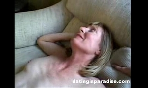 Blonde milf opens butt for spouse