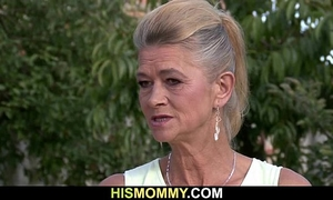 Granny seduces her son's gf