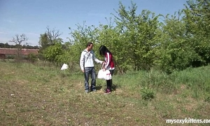Teen nikki acquires screwed and jizzed outdoors