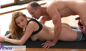 Fitnessrooms yoga slavemaster teaches juvenile student raunchy techniques