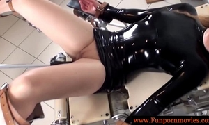 Perverted lesbian babes in latex