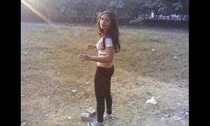 Sexy desi indian white women excercise - boob show - full movie