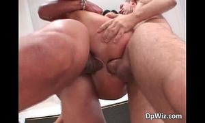 Nasty dark brown chick sucks boner