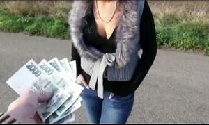 Nasty dilettante eurobabe zuzana butthole screwed for cash