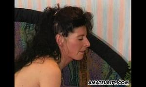 Amateur milf anal act with facial spunk flow