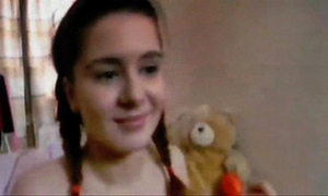 Teen masturbation with anal sex-toy - brown sugar