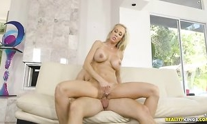 Young dude is lucky to fuck gorgeous MILF next door