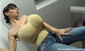 Penelope dark diamond - milking breasts - breastfeeding scones preview