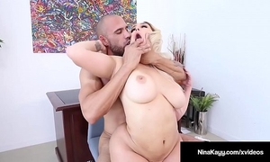 Latina boss nina kayy acquires rammed by her large dick employee!
