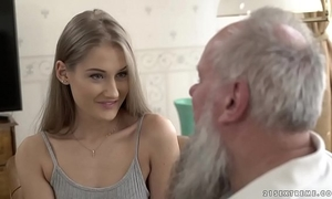 Teen beauty vs old old man - tiffany tatum and albert