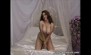 Hot milf jonee stripping showing her massive bra buddies and shaggy twat