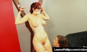 Ginger bush lauren phillips receives punished by milf sara jay!
