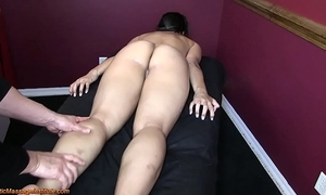 Hot oriental receive erotic massage and glad ending