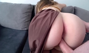 Princess leia with large moist booty copulates with a man