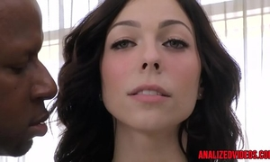 Busty anal sweetheart fucked right into an asshole by dark ramrod