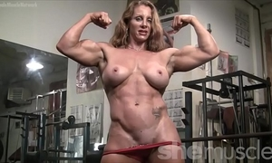 Naked female bodybuilder hawt red headed muscle