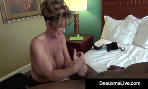 Milf secretary deauxma receives group-fucked by boss's large dark dong!
