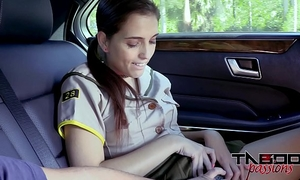 Horny legal age teenager brooke haze gives stepdad oral job whilst mamma drives