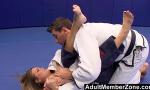 Faking an harm to fuck the judo instructor