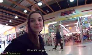 Mallcuties - reality legal age teenager drilled for clothing - public reality