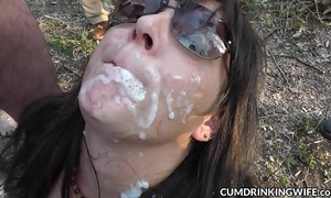 Hot white bitch cum drenched and creampied by hundreds of dudes
