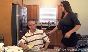 """Madisin lee in milf mamma helps son with his """"term paper blue balls"""""""
